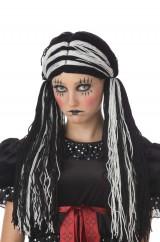 Черно-белый парик куклы