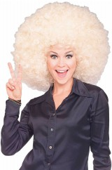 Объемный белый парик