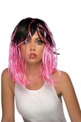 Розово-черные волосы