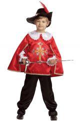 Костюм отважного мушкетера в красном
