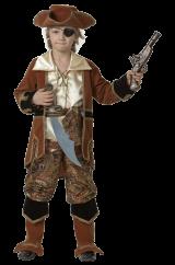 Костюм смелого пирата коричневый