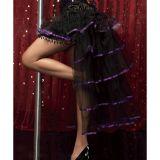Юбка Кабаре с фиолетовой лентой