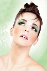 Ресницы Зеленый блеск